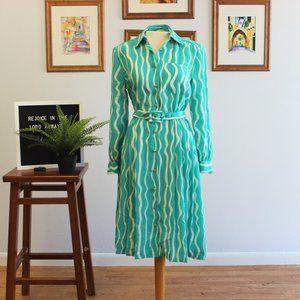 Vintage Swirl Pattern Dress Small - Medium